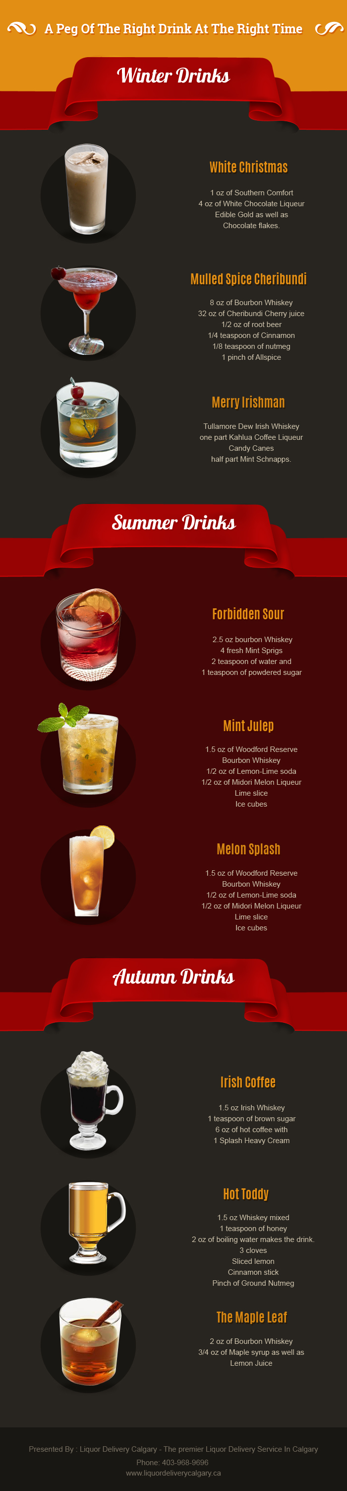 List some exquisite drinks