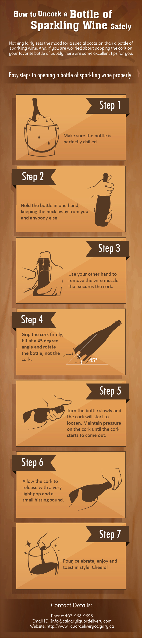 How to Uncork a Bottle of Sparkling Wine Safely