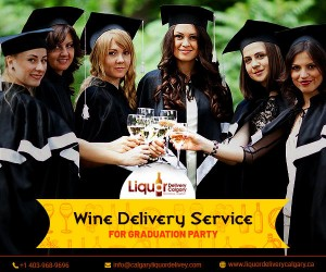Prompt Wine Delivery Service in Calgary for A Graduation Partyog