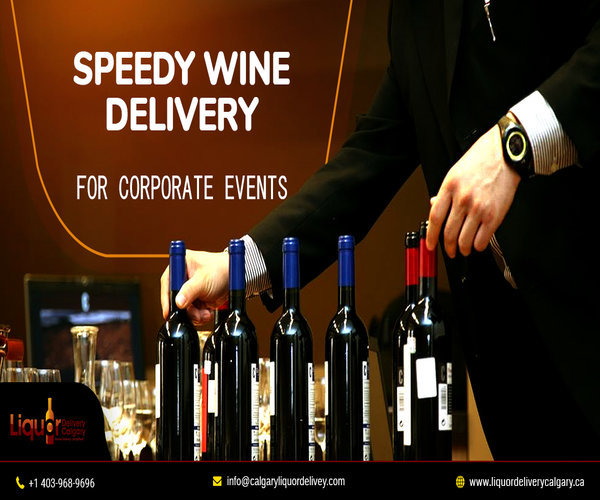 Speedy Wine Delivery Service in Calgary for Corporate Events